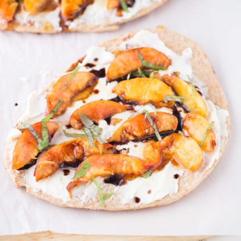 Grilled Nectarine Flatbread with Mascarpone