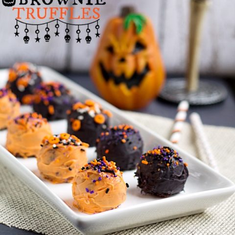 Halloween Brownie Truffles
