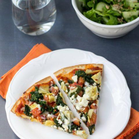 Tomato, Spinach & Artichoke Pizza