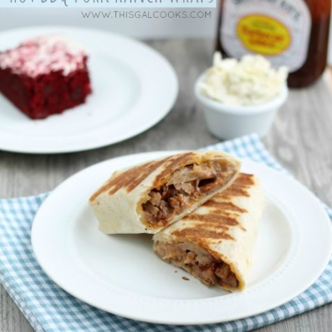 Recipe: Hot BBQ Pork Ranch Wraps