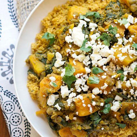Lentil Tagine with Whole Wheat Couscous