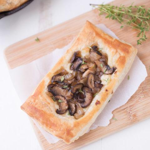 Mushroom Brie Pastries