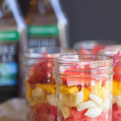 Fresh Fruit Salad and Lipton Pure Leaf Tea {on the go healthy snacking}