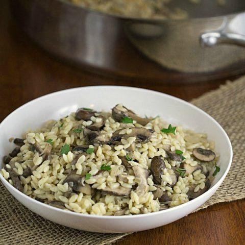 Savory Orzo with Mushrooms