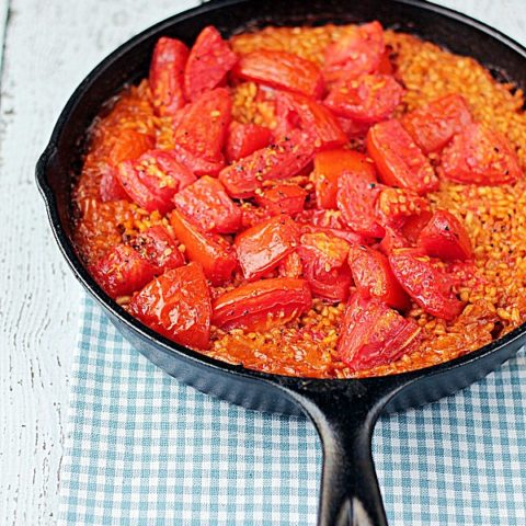 Thirty Minute Paella with Tomatoes