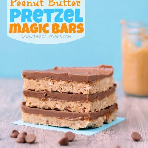 Recipe: No Bake Peanut Butter Pretzel Magic Bars