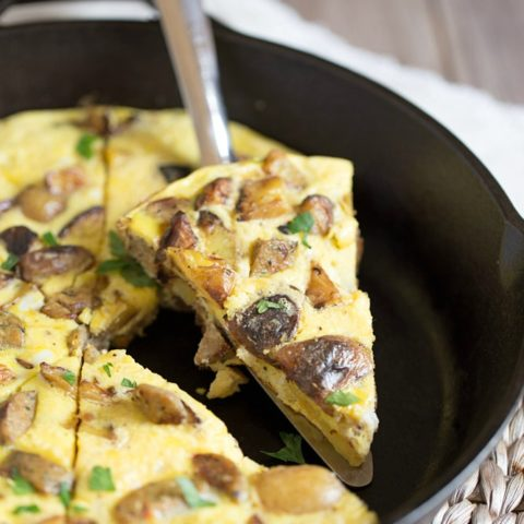 Potato Frittata with Chicken Sausage