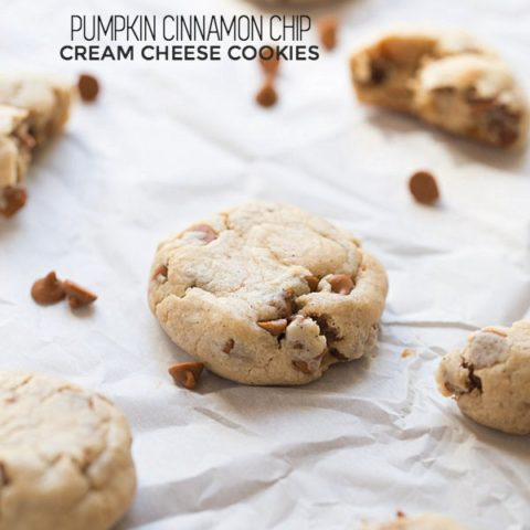Pumpkin Cinnamon Chip Cream Cheese Cookies