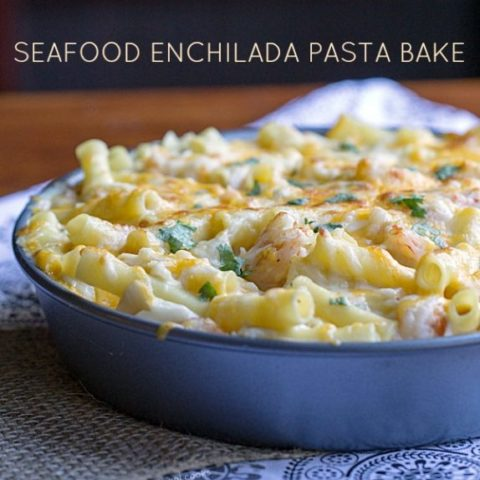 Seafood Enchilada Pasta Bake