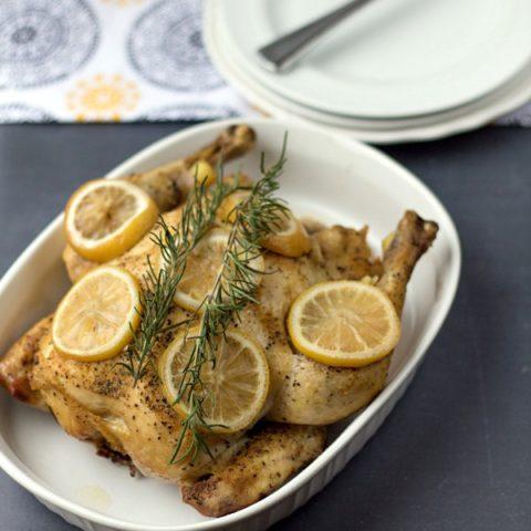Crockpot Lemon Rosemary Chicken
