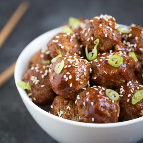 Spicy Asian Vegan Meatballs