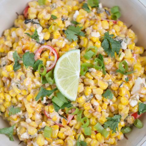 Street Corn Salad (vegetarian + vegan option)