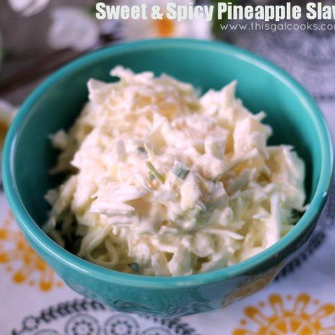 Recipe: Sweet & Spicy Pineapple Slaw