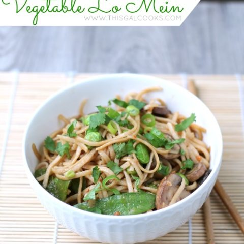 Stir Fry Vegetable Lo Mein