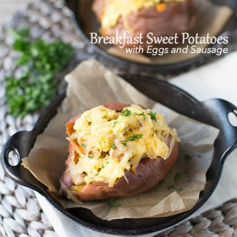 Breakfast Sweet Potatoes with Eggs and Sausage
