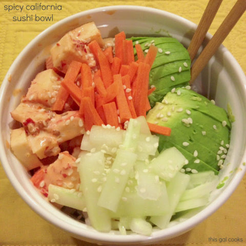 Spicy California Sushi Bowl