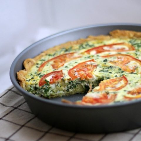 Tomato Bacon Spinach Quiche This Gal Cooks